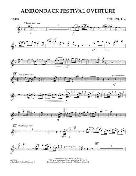 Adirondack Festival Overture - Flute 2