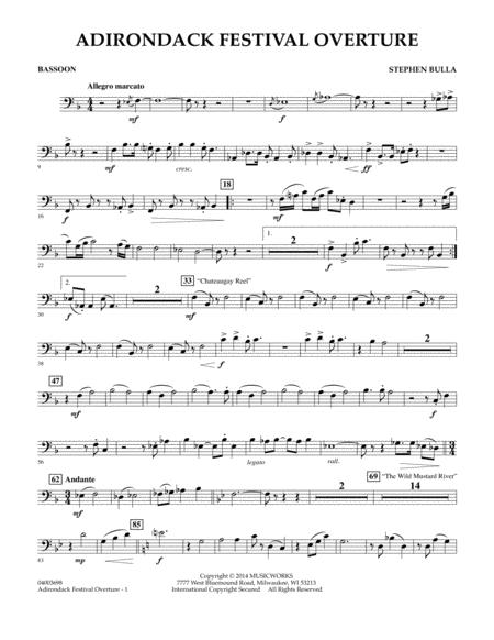 Adirondack Festival Overture - Bassoon