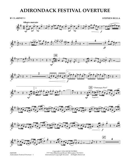 Adirondack Festival Overture - Bb Clarinet 1