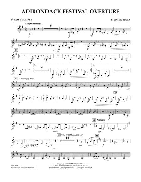 Adirondack Festival Overture - Bb Bass Clarinet