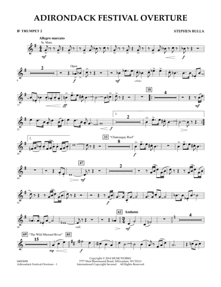 Adirondack Festival Overture - Bb Trumpet 2