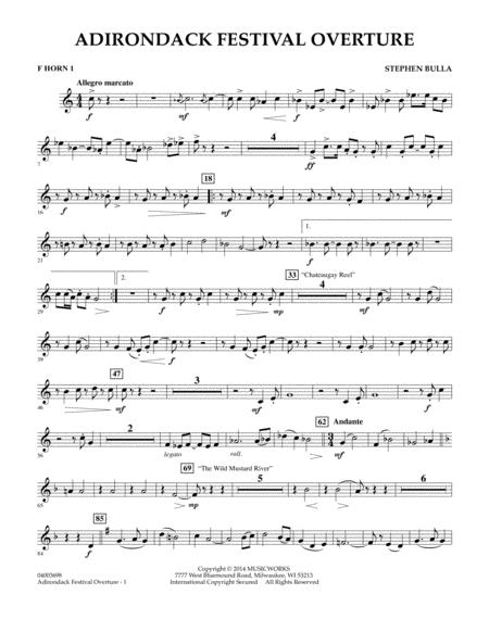 Adirondack Festival Overture - F Horn 1