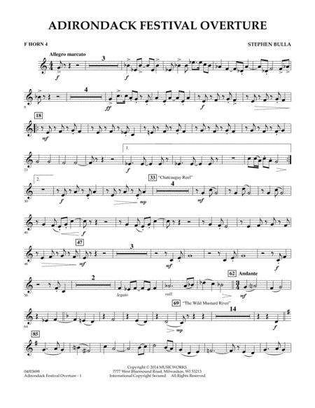 Adirondack Festival Overture - F Horn 4