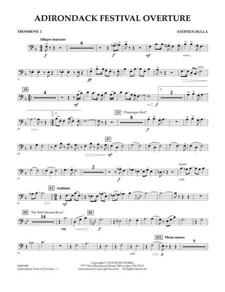 Adirondack Festival Overture - Trombone 2