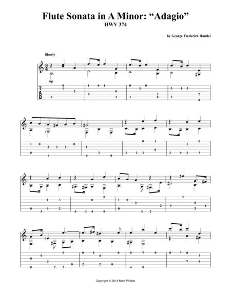 """Flute Sonata in A Minor: """"Adagio"""""""