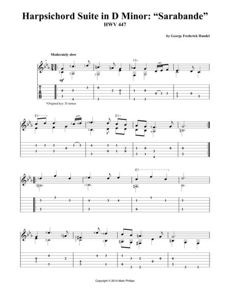 "Harpsichord Suite in D Minor: ""Sarabande"""