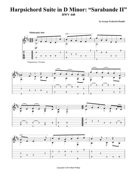 """Harpsichord Suite in D Minor: """"Sarabande II"""""""