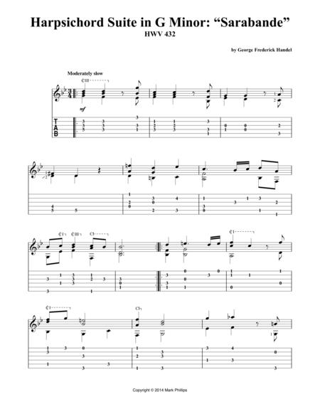"Harpsichord Suite in G Minor: ""Sarabande"""
