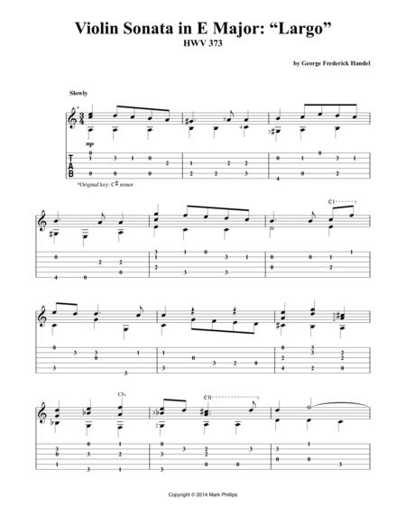 """Violin Sonata in E Major: """"Largo"""""""