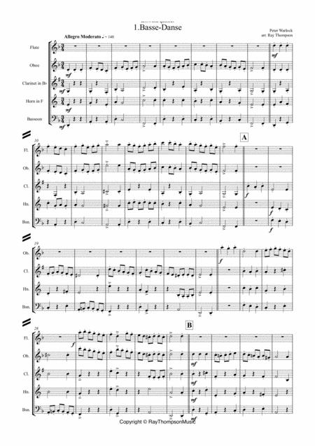 Peter Warlock: Capriol Suite (Complete): 1.Basse-Danse 2.Pavane 3.Tordion 4.Bransles 5.Pied en L'air 6.Mattachins - wind quintet