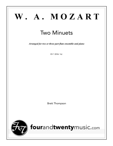 Two Minuets, for two or three flutes and piano