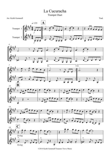 La Cucuracha: Trumpet Duet