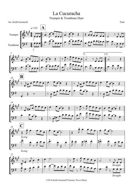 La Cucuracha: Trumpet and Trombone Duet
