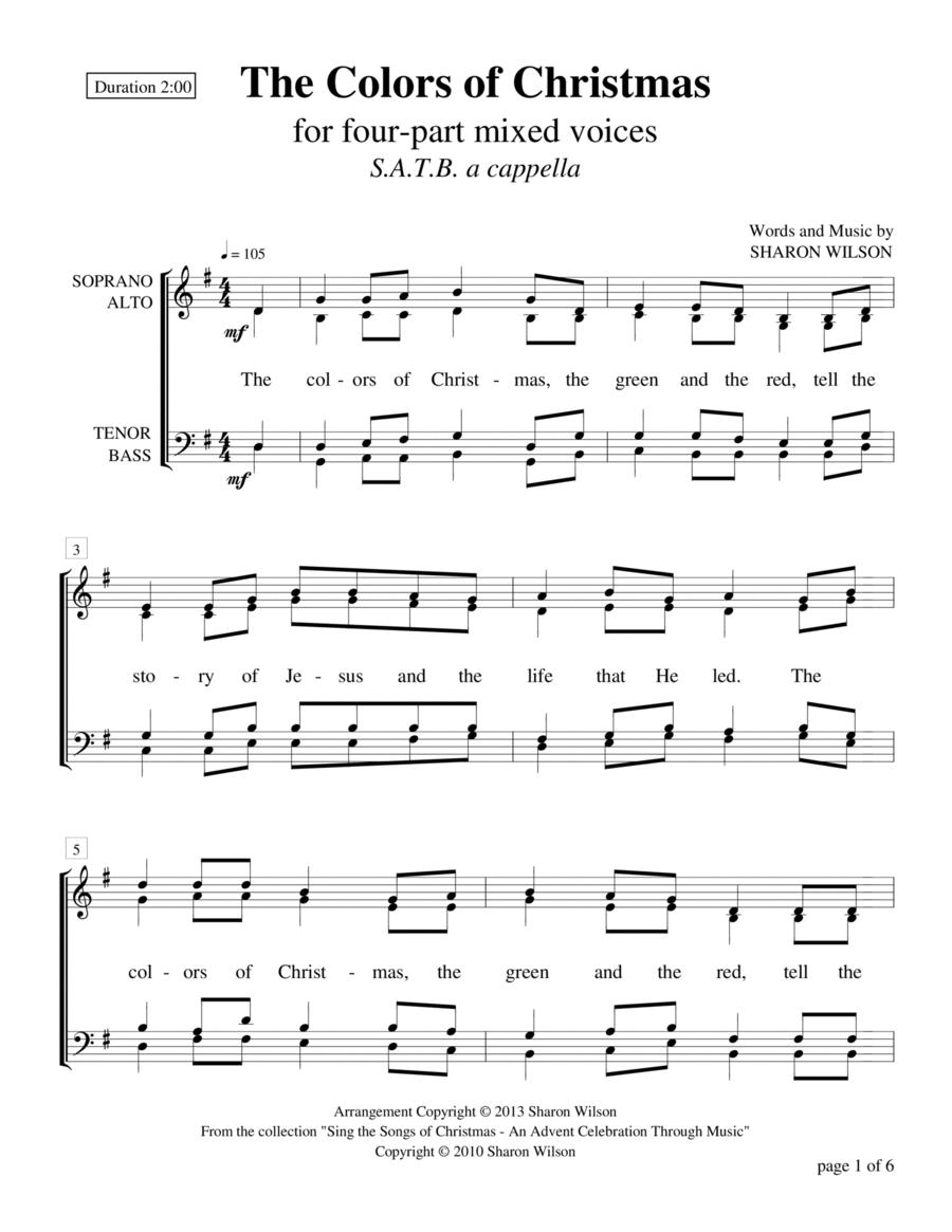 The Colors of Christmas (SATB a cappella)