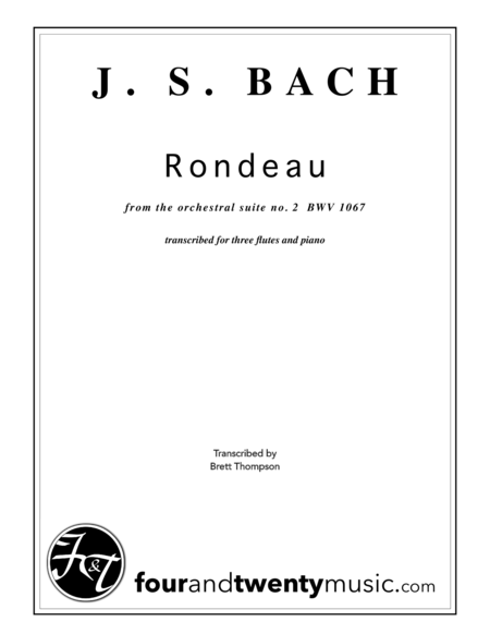 Rondeau (from Suite no 2) for 3 flutes and piano