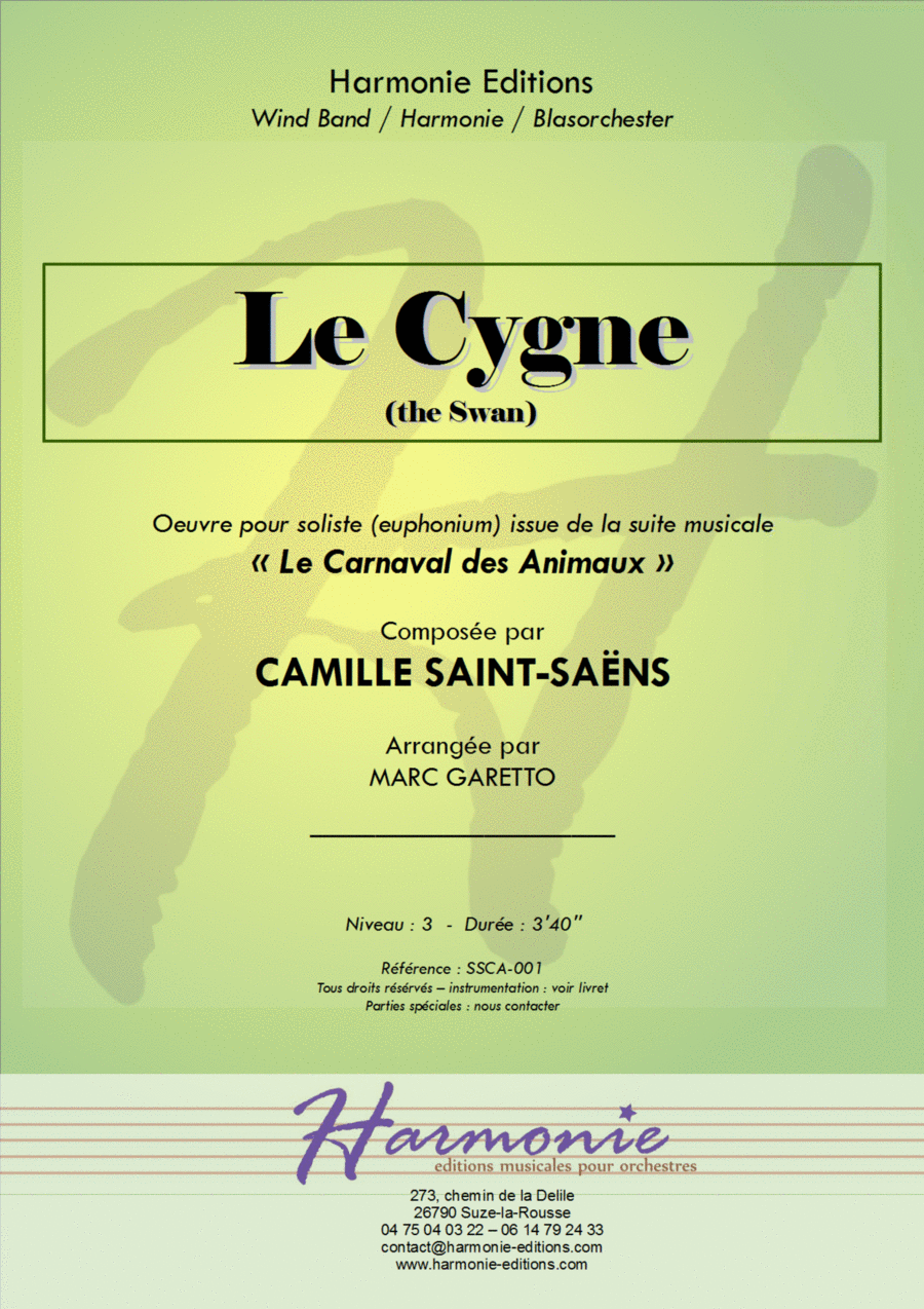 Le Cygne (The Swan) - Carnaval des Animaux (carnival of the animals) for Concert Band