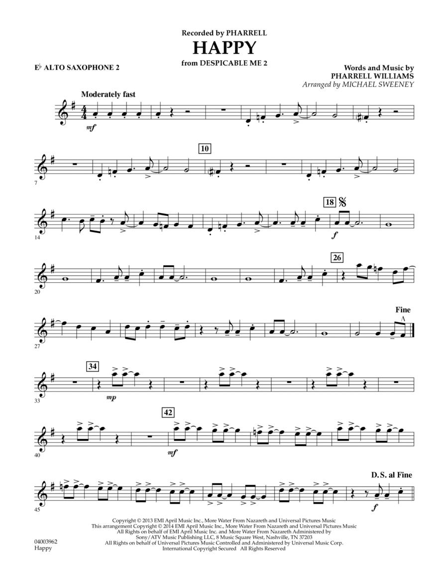 Happy (from Despicable Me 2) - Eb Alto Saxophone 2