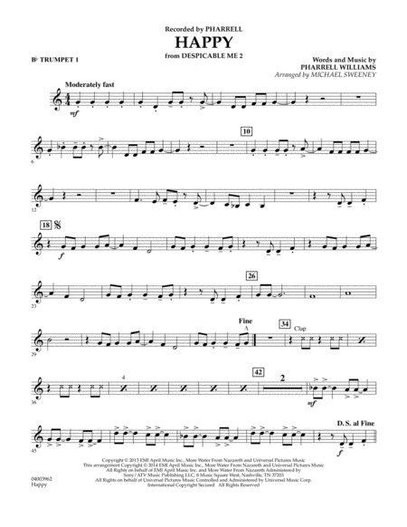 Happy (from Despicable Me 2) - Bb Trumpet 1