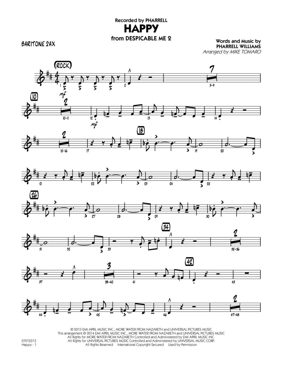 Happy (from Despicable Me 2) - Baritone Sax