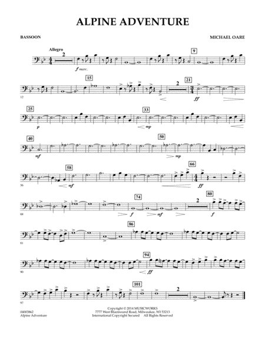 Alpine Adventure - Bassoon
