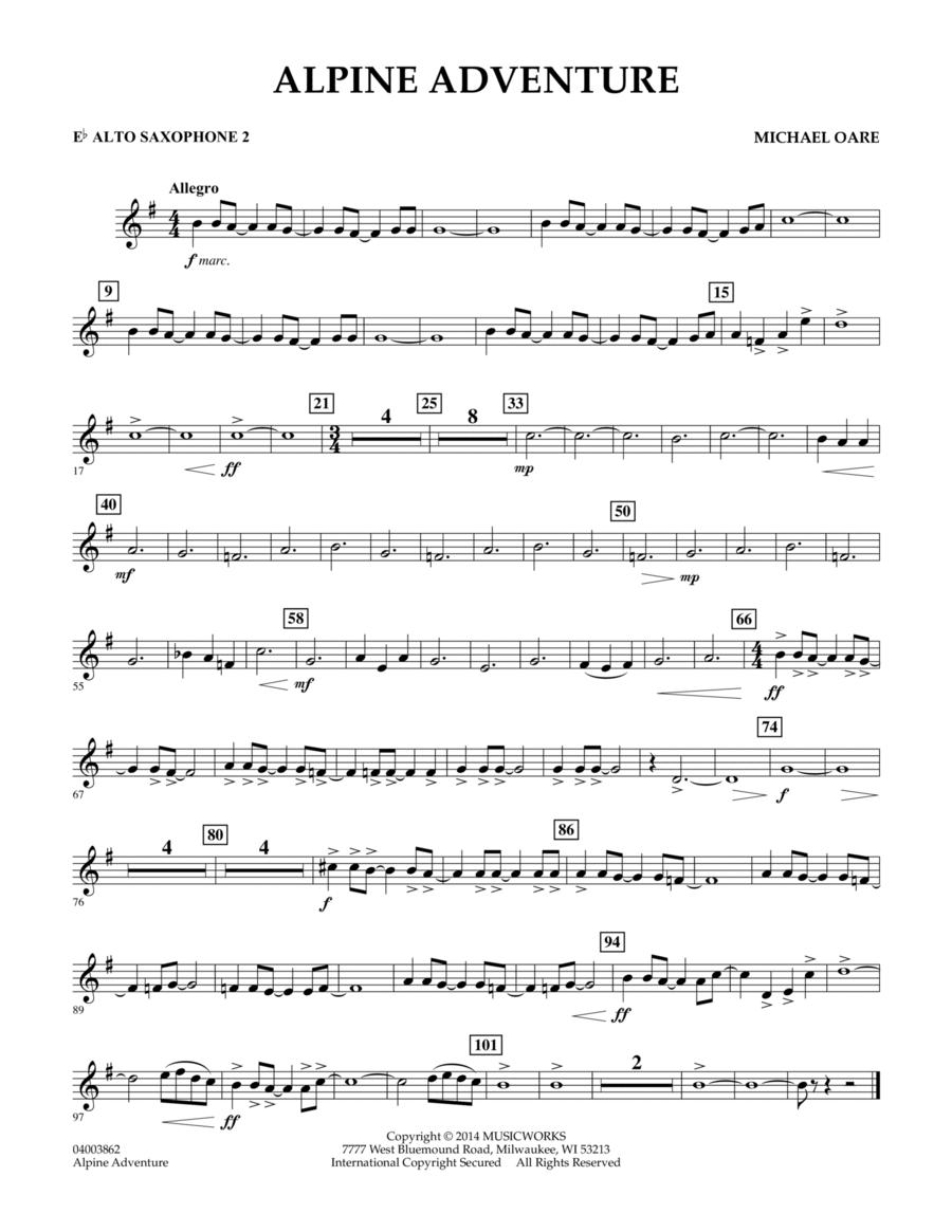 Alpine Adventure - Eb Alto Saxophone 2