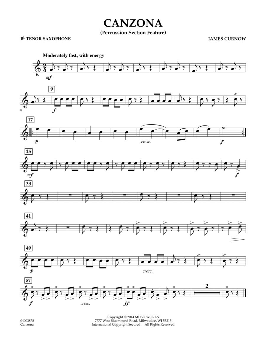 Canzona - Bb Tenor Saxophone