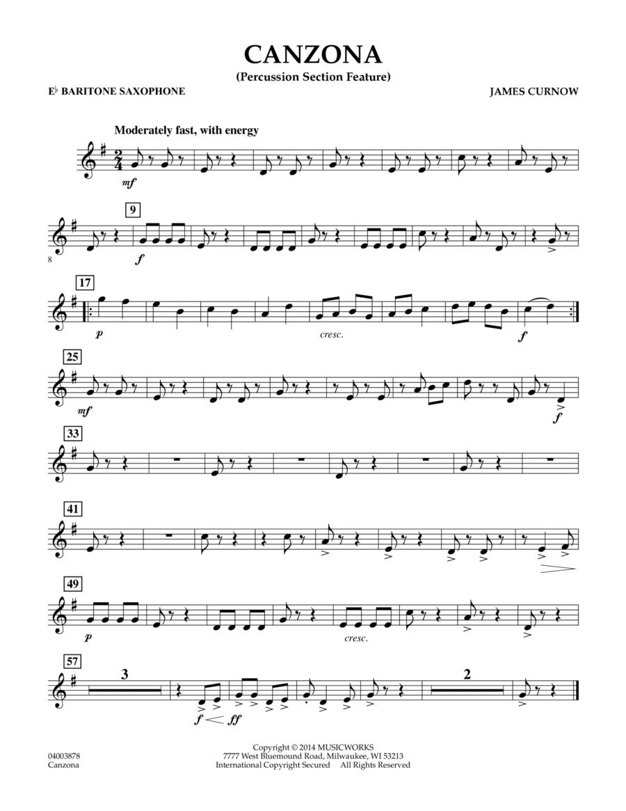 Canzona - Eb Baritone Saxophone