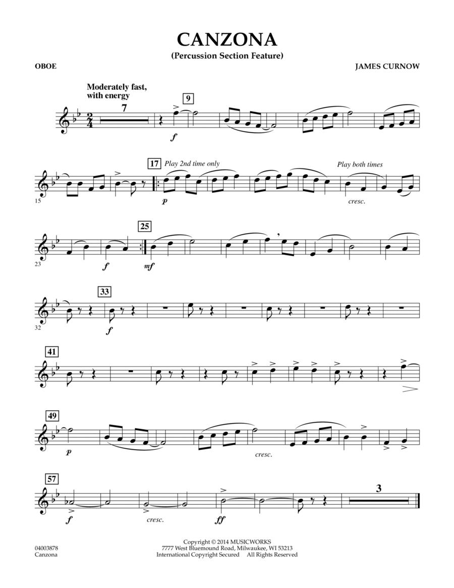 Canzona - Oboe