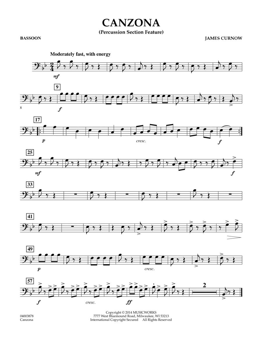 Canzona - Bassoon