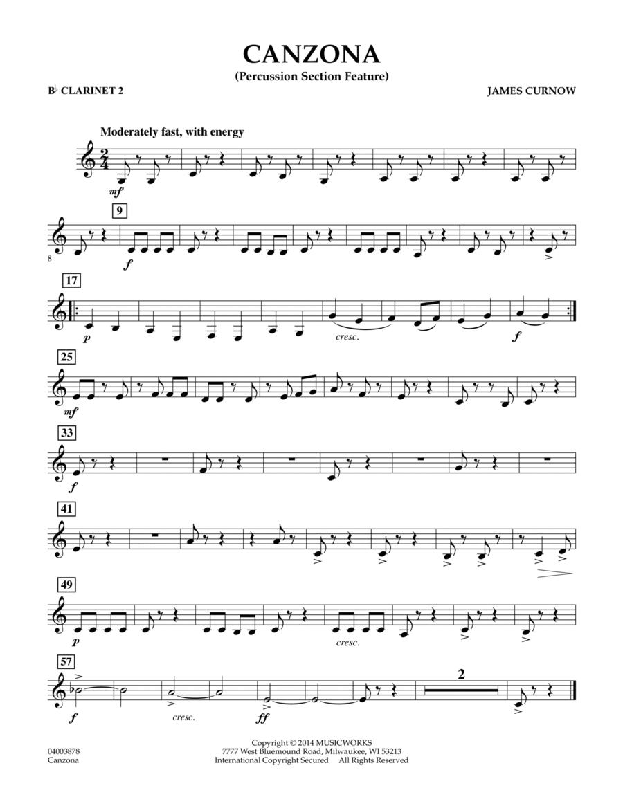 Canzona - Bb Clarinet 2