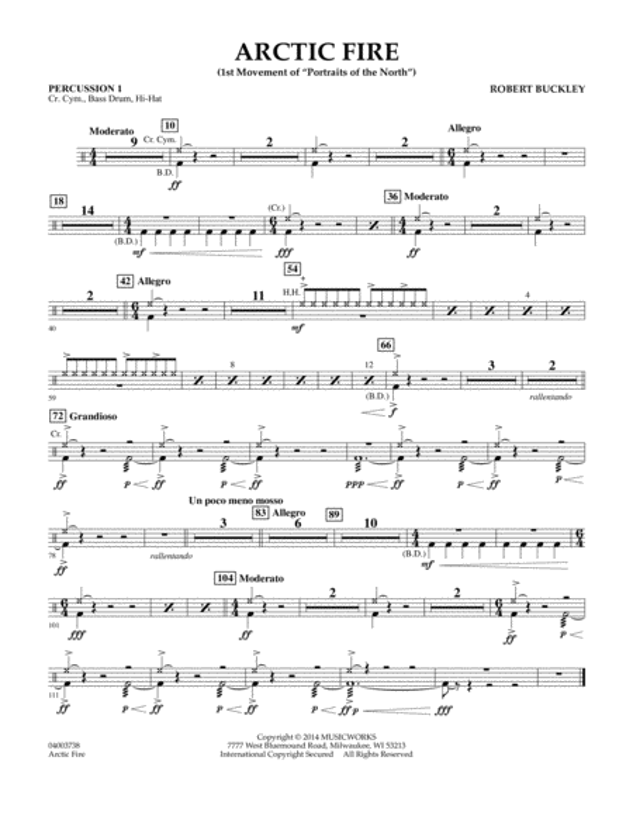 Arctic Fire - Percussion 1