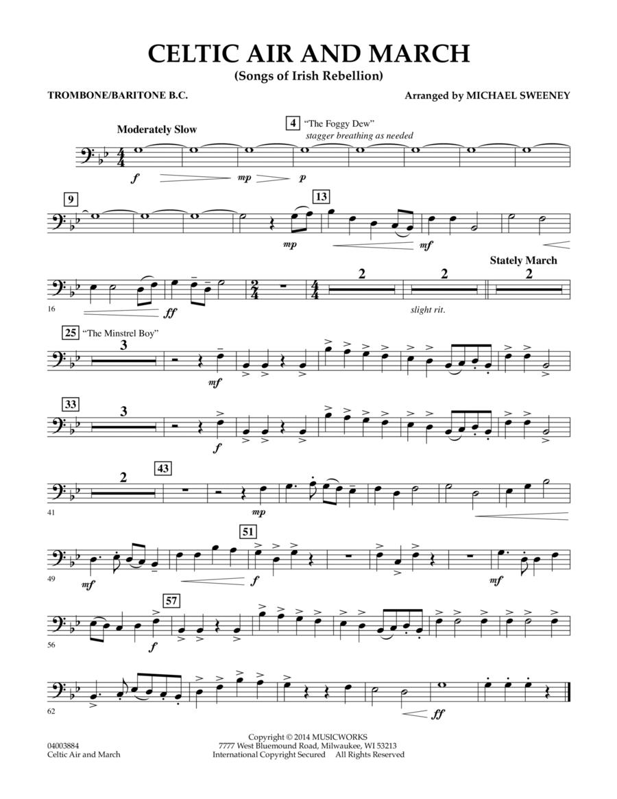 Celtic Air and March (Songs of Irish Rebellion) - Trombone/Baritone B.C.