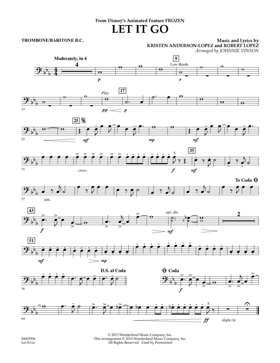 Let It Go - Trombone/Baritone B.C.