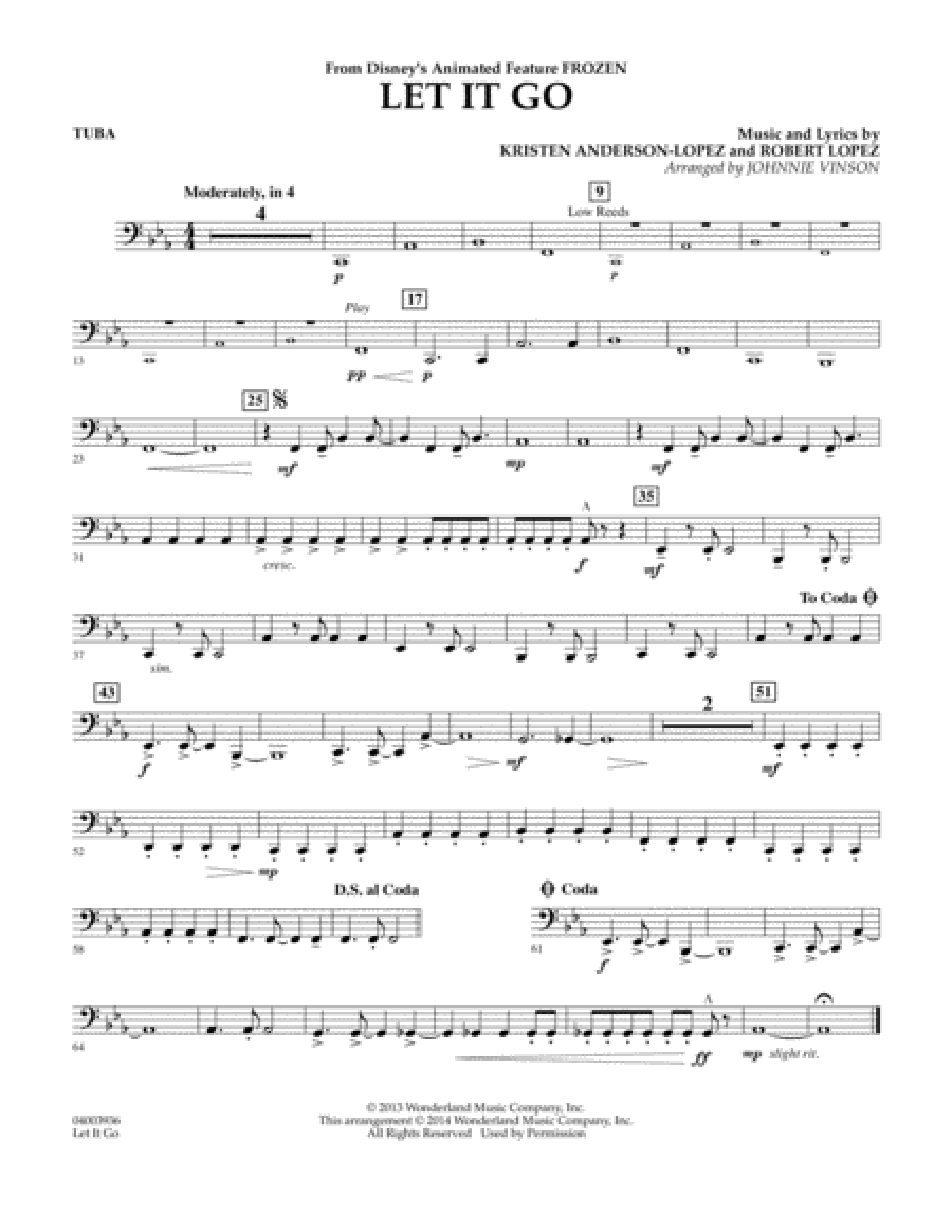 Let It Go - Tuba