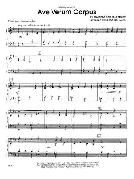 Ave Verum Corpus - Piano