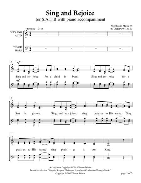 Sing and Rejoice (SATB vocal score only)