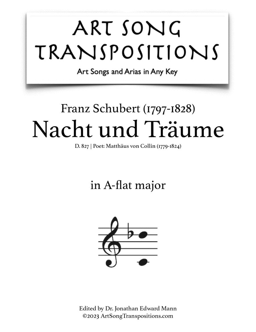 Nacht und Träume, D. 827 (A-flat major)