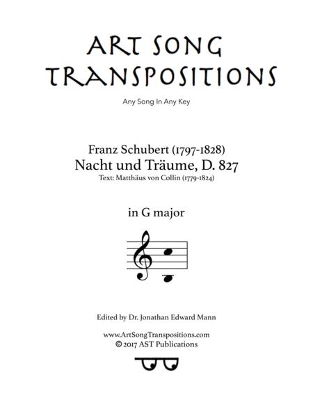 Nacht und Träume, D. 827 (G major)