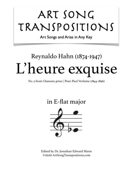L'heure exquise (E-flat major)
