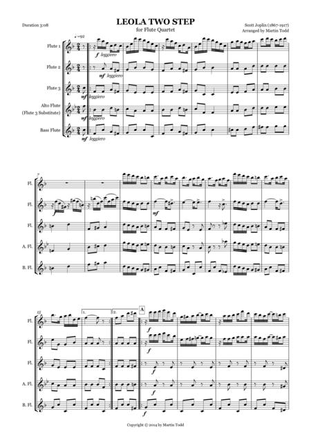 Leola Two Step for Flute Quartet