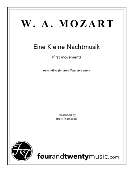 eine kleine nachtmusik 1st movement mozart Eine kleine (first movement) wolfgang amadeus mozart like  share playlist  composed by wolfgang amadeus mozart (1756-1791) for organ, piano/keyboard .
