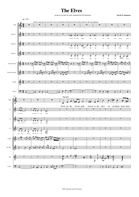 The Elves – a cantata based on the poem by Leconte de Lisle