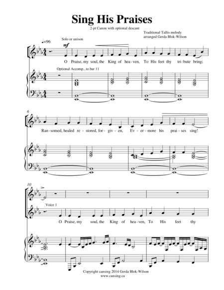 Sing His Praises