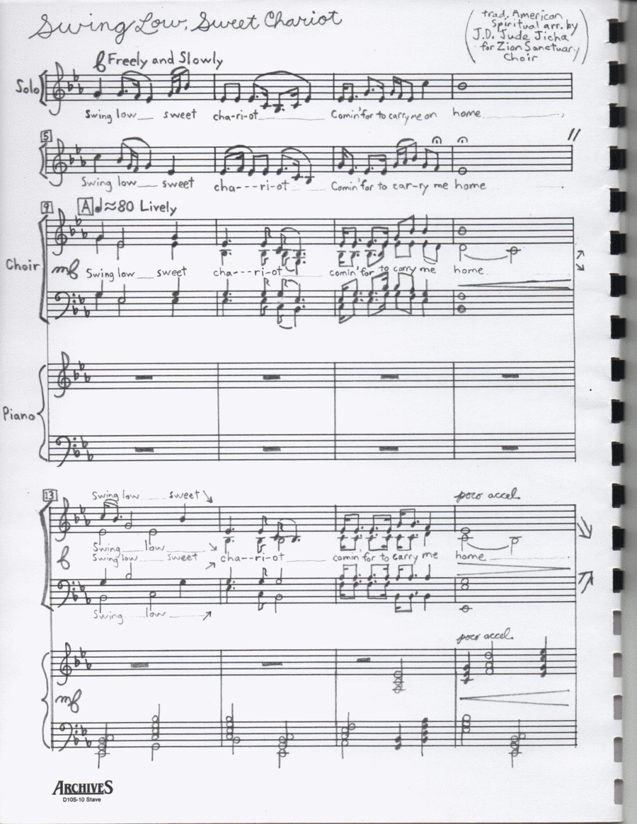 Swing Low, Sweet Chariot (SATB with solo)