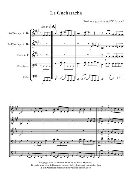 La Cucuracha: Brass Quintet