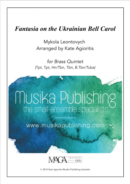 Fantasia on the Ukrainian Bell Carol - for Brass Quintet