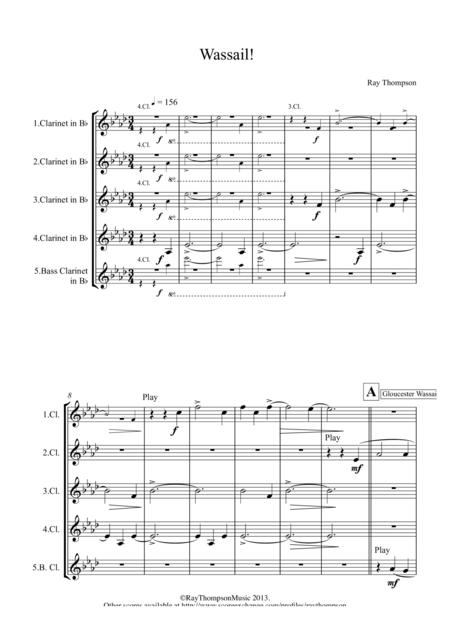 Wassail!! (Clarinet Quintet)