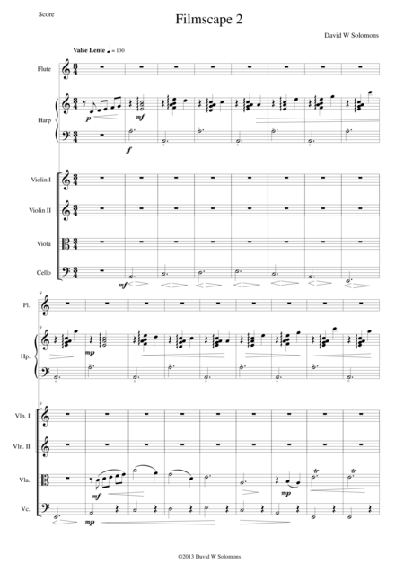 Filmscape 2 for strings harp and flute