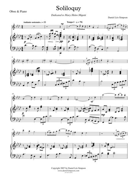 Soliloquy (for Oboe & Piano)
