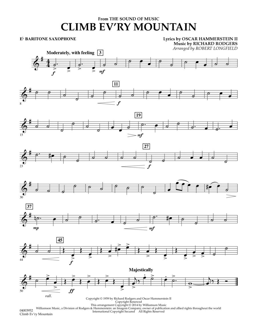 Climb Ev'ry Mountain (from The Sound of Music) - Eb Baritone Saxophone